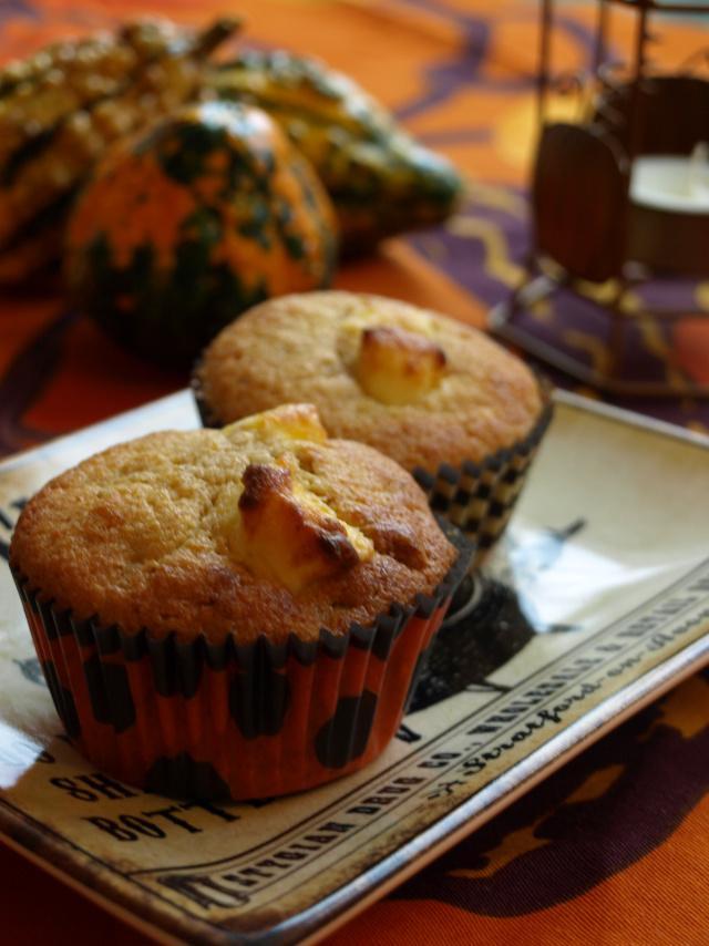 かぼちゃとナッツのカップケーキレシピ!バターナッツスクワッシュを