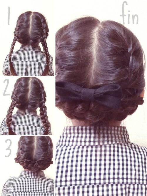 やり方簡単!ロングヘアのヘアアレンジ手順5選。三つ編みやくる