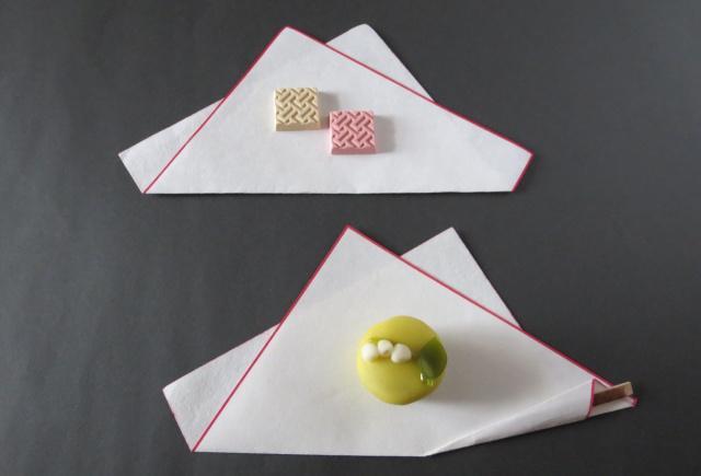和食や和菓子を乗せる和紙「かいしき」。吉凶別・折り方講座 ...